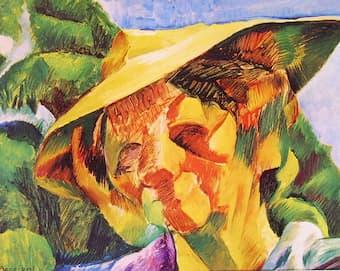 Boccioni: <em>Ritratto della signora Busoni</em> (1916) (Milano: Galleria d'Arte Moderna)