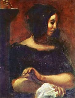 Portrait of George Sand by Delacroix