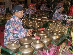 Indonesian Gamelan percussion ensemble