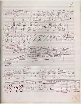 Manuscript of Liszt's Sonata in B minor