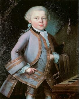 Wolfgang Amadeus Mozart as a child, 1763