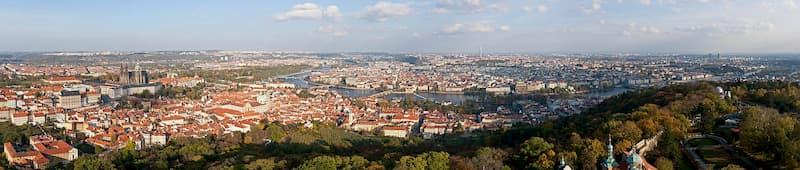 A panorama of Prague, 2010