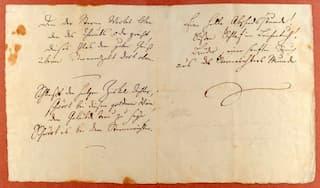 Autograph of Schiller's Ode to Joy