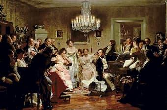 A Schubert Evening in a Vienna Salon by Julius Schmid