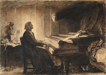 Herkomer: Liszt at the Piano