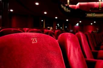 concert hall velvet seats