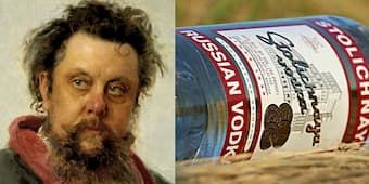 Mussorgsky's death was due to his excess of alcohol