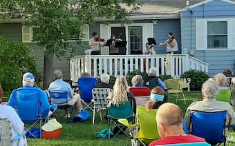 Many musicians performed in the back yard during national lockdowns