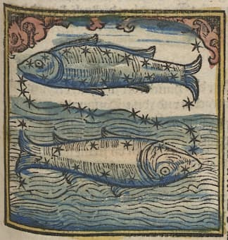 16th century woodcut of Pisces