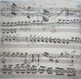 Bach's Toccata in D minor 18th century copy by Johannes Ringk
