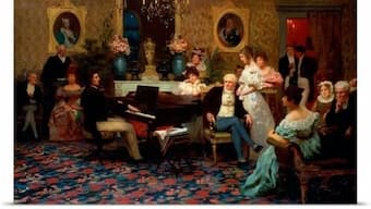 Chopin playing in the Salon