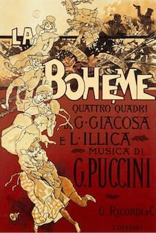 Poster of La Bohème by Hohenstein