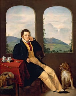 Portrait of Schubert by Gabor Melegh, 1827