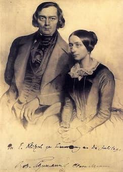 Robert and Clara Schumann, 1847