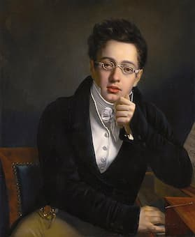 The young Schubert by Josef Abel