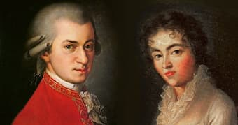 Wolfgang and Constanze Mozart