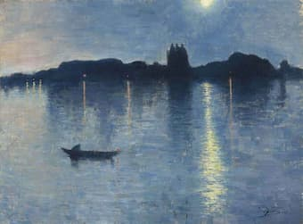 Le Lac au Clair de Lune , 1888 by Jean Delville