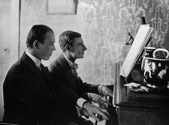 Ravel and Nijinsky working on the ballet Daphnis Daphnis et Chloé