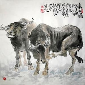 Ox Chinese painting