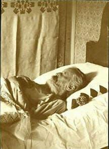 Brahms on his deathbed, 1897