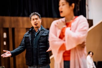 Martin Ng (Germont) rehearsing with Huang Li-ching (Violetta) last month, in preparation for the Weiwuying La Traviata