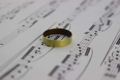 Brass trombone ring