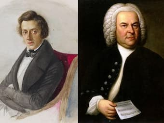 Chopin and Bach Collage