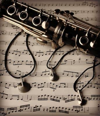Clarinet key necklaces