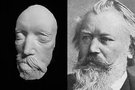Death mask of Johannes Brahms