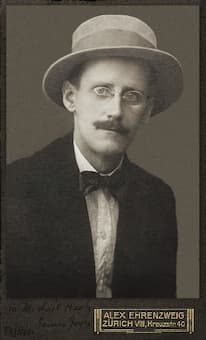 Photo of James Joyce by Alex Ehrenzweig, 1915