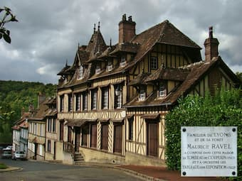 The house in Lyons-la-Forêt where Ravel composed Le Tombeau de Couperin