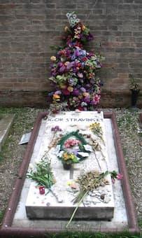 Stravinsky's grave in Venice