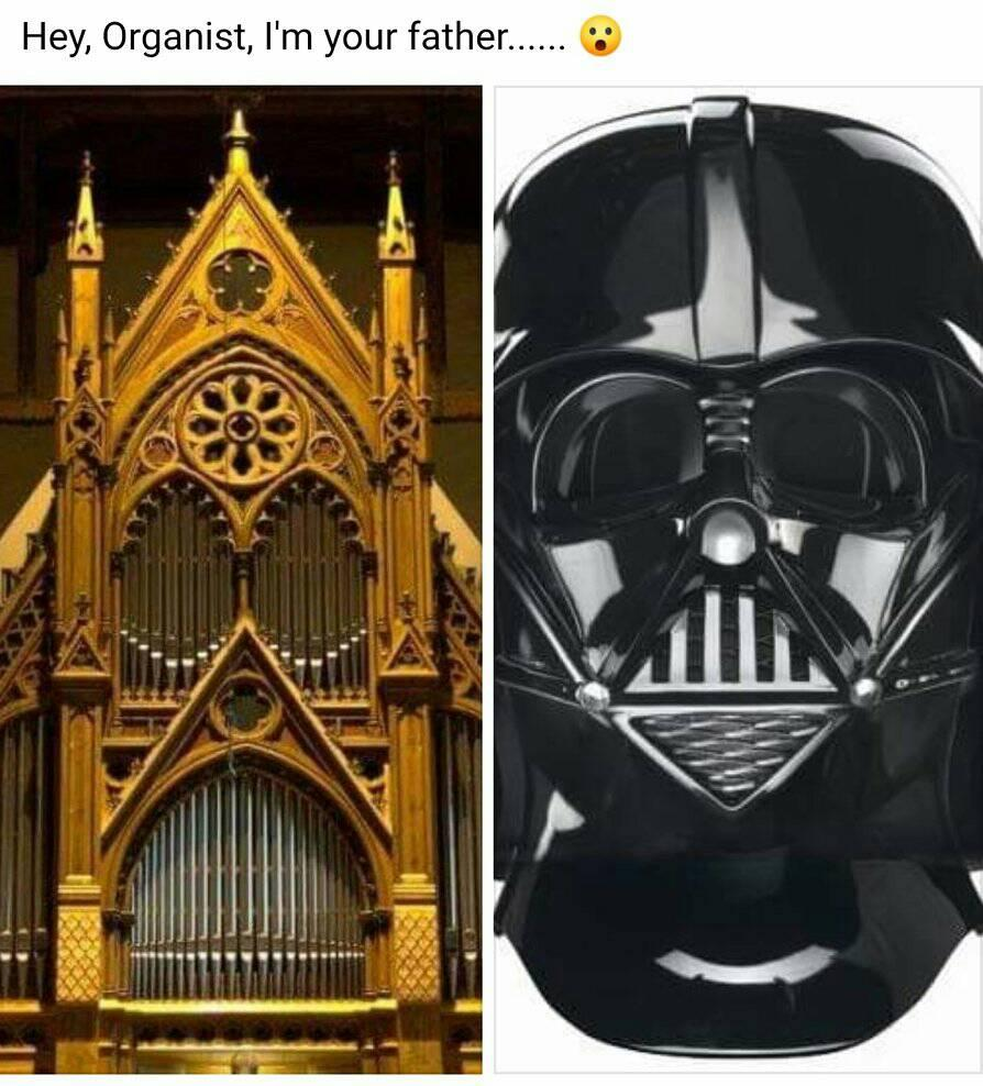 Hey Organist, I'm Your Father……