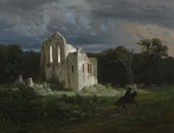 Arnold Böcklin: Moonlit landscape