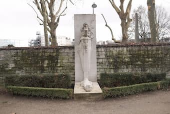 Cenotaph of Baudelaire at Montparnasse Cemetery