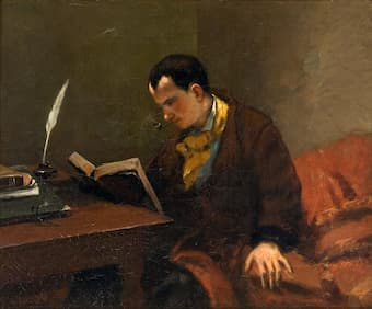 Charles Baudelaire by Courbet, 1848