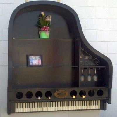 Hanging Grand Piano Shelving