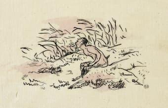 Édouard Manet: Frontispiece for L'après-midi d'un faune (1876)
