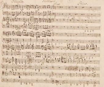 Manuscript of Fantasy in G major, D.1