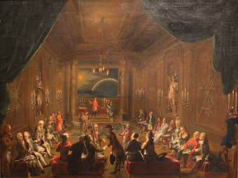 Initiation ceremony in Viennese Masonic Lodge, during reign of Joseph II