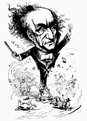 Faustin: German Composer Wagner Conducting Up A Storm. (1876) (The London Figaro)