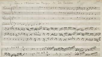 Pachelbel's Canon score