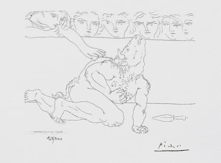 Picasso: Dying Minotaur in Arena