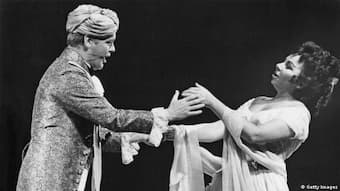 Hermann Prey and Christa Ludwig in a production of Mozart's 'Cosi fan tutte' at the Salzburg Festival in 1963