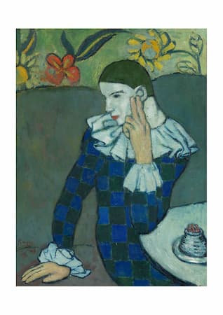 Picasso: Seated Harlequin