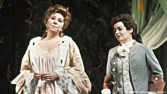 In 'Rosenkavalier' at the Vienna State Opera, alongside Gwyneth Jones (r), in 1968