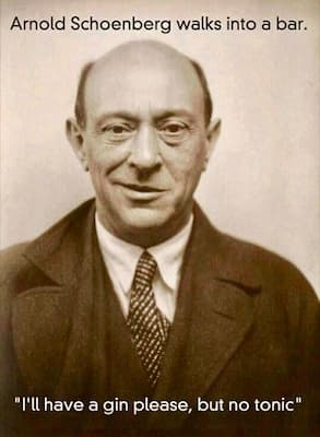 Schoenberg ordered a gin but without tonic