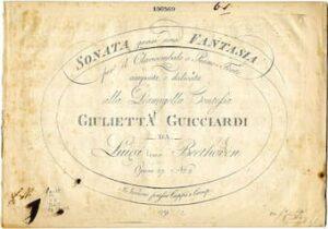 Beethoven's  Piano Sonata No. 14 title page