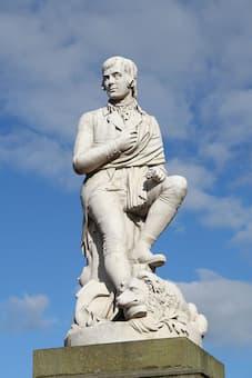 Statue of Robert Burns in Dumfies Town Centre