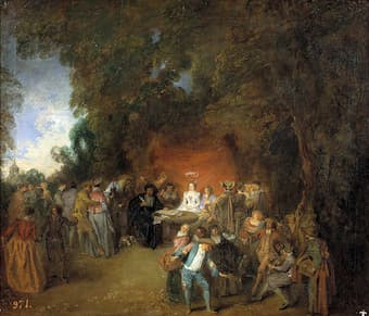 Antoine Watteau: Marriage Contract and Country Dancing